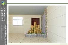 室内假山水池图片
