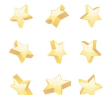 矢量立体五角星造型素材