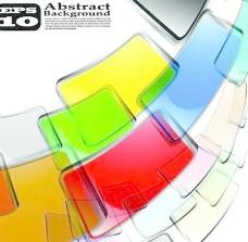 矢量抽象彩水晶背景设计