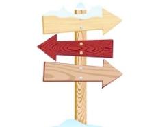 矢量木质指路牌设计素材