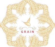 矢量麦穗创意标签设计素材