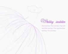 矢量婚纱插画手稿素材