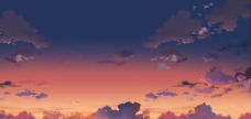 色彩天空图片
