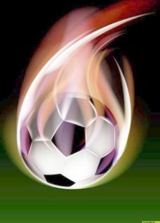 创意火焰足球矢量素材图