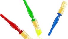 矢量彩色涂料笔图片素材