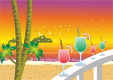 沙滩高跟杯