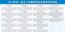 新生入学考试座位安排图片