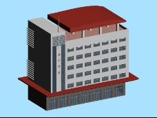 时尚酒店简模建筑3D模型