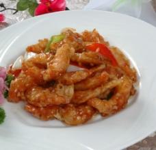 熘虾段 熘砂仁图片