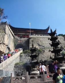 九华山寺庙图片