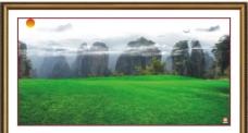 高山草原风景画