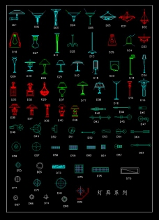 CAD灯具图块