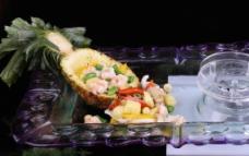 莲子菠萝虾球图片