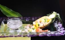 菠萝海鲜船图片