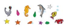 海洋生物矢量图图片