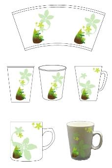 竹筍文化紙杯設計