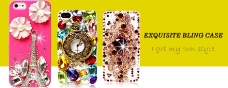 iPhone5贴钻手机壳海报