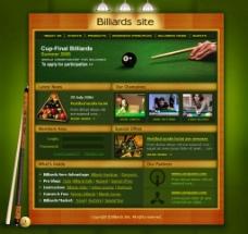 桌球台球网站模板图片