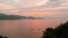 海滨风光 海上红阳图片