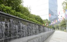 广场景观流水瀑布图片