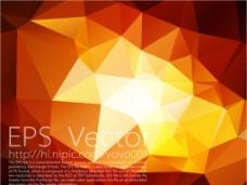 红橙色多边形底纹背景图片