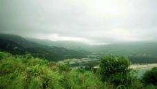 海滨村庄 田园风光图片