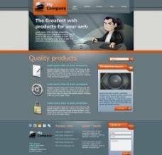 英文网页模板图片