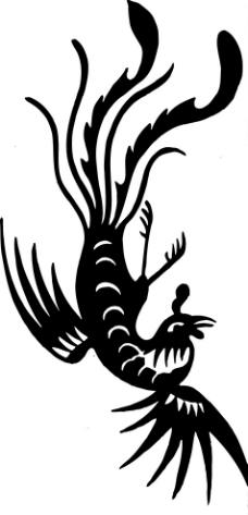 凤凰 鸟 飞鸟 矢量线图片
