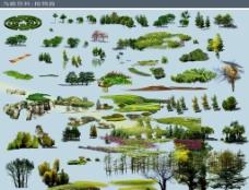 PSD格式常用树 鸟瞰树图片