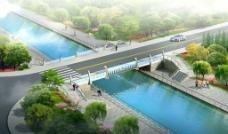 景观桥  河道 装饰拱 图片
