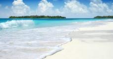 白色沙滩图片