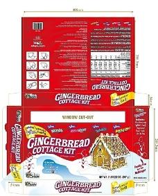 姜饼屋 包装 彩盒 设计