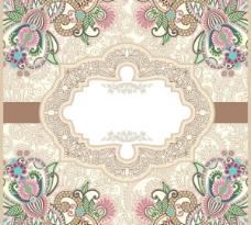 精美欧式花纹背景矢量素材2