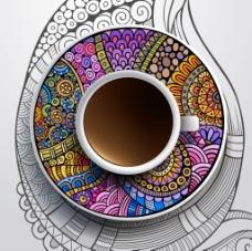多彩艺术咖啡杯