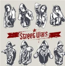 hip hop街头风