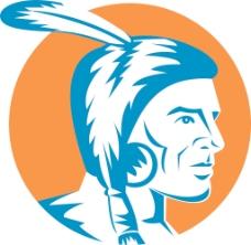 美国土著印第安勇士