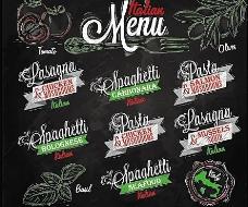 绿色蔬菜菜单设计图片