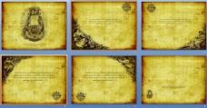 六张欧美古典风格PPT背景图片