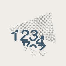 印花矢量图 文字 数字 几何 三角形 免费素材