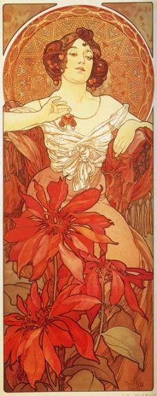 位图 插画师 Alphonse Mucha 免费素材
