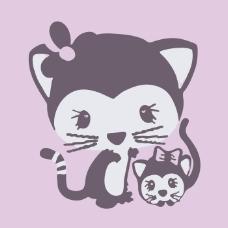 印花矢量图 可爱卡通 动物 狐狸 女童 免费素材