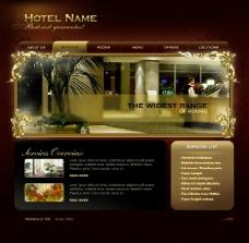 五星级酒店网页动画模板