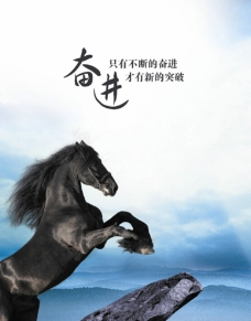 黑马奔腾图片