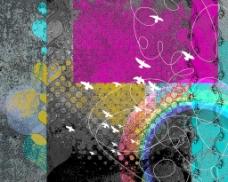彩虹神秘背景