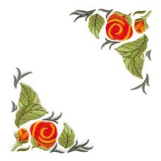 绣花 花纹 花朵 树叶 花边 免费素材