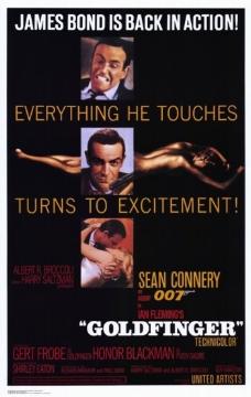 位图 欧美怀旧 老电影海报 GOLDDFINGER 007金手指 免费素材