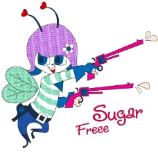 印花矢量图 女童 T恤图案 可爱卡通 贴布 免费素材
