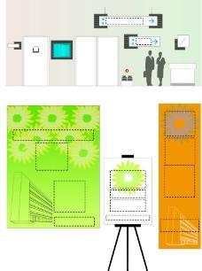 商场导视标识模板模型图片