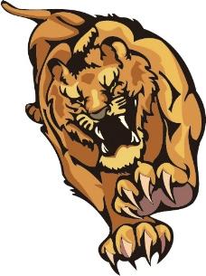 印花矢量图 狮子 黑色 棕色 免费素材