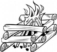 篝火做饭起重机